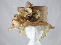 Failsworth Millinery Brown Events Hat