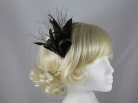 Failsworth Millinery Brown Sinamay and Feathers Fascinator