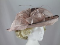 Failsworth Millinery Brown and Beige Events Hat