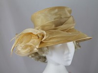 Failsworth Millinery Buttermilk Collapsible Wedding Hat