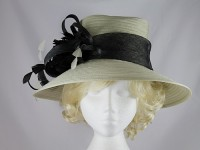 Failsworth Millinery Cream and Black Wedding Hat