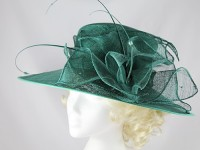 Failsworth Millinery Dark Green Wedding / Events Hat