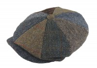 Failsworth Millinery Lewis Multi Tweed Cap