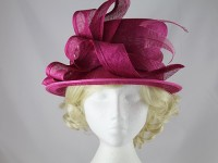 Failsworth Millinery Magenta Wedding Hat