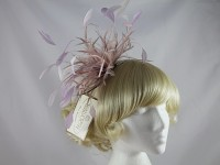 Failsworth Millinery Pale Pink Feathers Fascinator