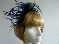 Fascinator Black & Royal Blue
