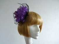 Fascinator Purple with Black