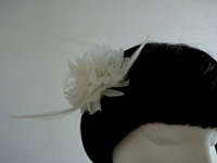 Fascinator White Ivory on a clip