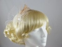 Feather and Net Fascinator