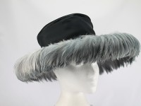 Frederick Fox Black and Grey Formal Hat