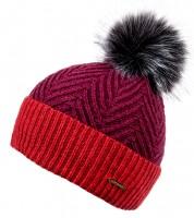 Alice Hannah Alesha Chevron Multi Colour Bobble Hat