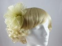Organza Leaves Fascinator