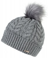 Alice Hannah Madeline Knitted Beanie Bobble Hat