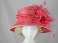 Gwyther-Snoxells Orange Wedding Hat