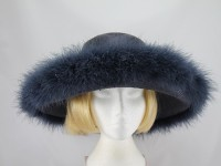 Gwyther Snoxells Midnight Blue Ascot Hat