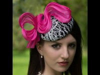 HATS by Emelle Georgie Girl Black White and Pink Button