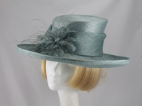 Hat Box Sea Green Wedding hat