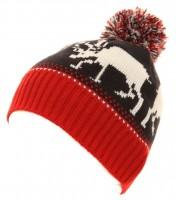 Hawkins Multi Coloured Reindeer Beanie Hat
