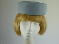 Marida Wedding headpiece in Pale Blue Grey