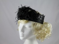 J.Bees Millinery Black Band Headpiece