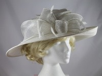 J.Bees Millinery Wedding / Events Hat in White Ice