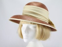 Just Natural Brown and Cream Formal Hat