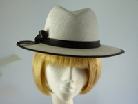 Ladies hat Black and White trilby
