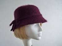 Failsworth Millinery Ladies hat Mulberry