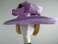 Country Casuals Wedding hat Lilac