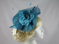 Maddox Flower Headpiece in Azure