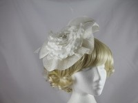 Maddox White Flower Headpiece
