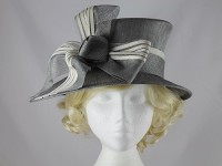 Maddox Zinc and White Occasion Hat
