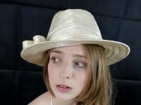 Matthew Eluwande Millinery Ivory Straw Hat