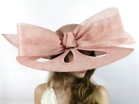 Matthew Eluwande Millinery Perforated Pink Sinamay Hat