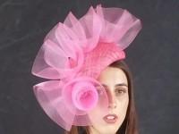 Matthew Eluwande Millinery Pink Headpiece