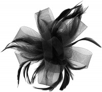 Molly and Rose Loops in Black Fascinator