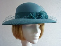Eastex Wedding hat Turquoise