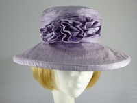 Ascot hat in Pale Lavender Lilac Silk
