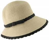 Hawkins Collection Cloche Straw Hat