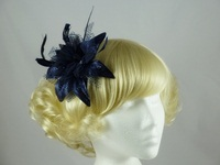 Navy Flower Fascinator