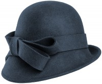 Hawkins Collection Wool Felt Vintage Cloche Bow Hat