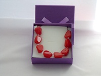 Wedding necklace with red beads