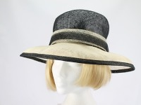 Next Black and Cream Formal Hat