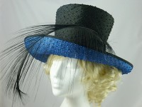 Nigel Rayment Black and Blue Wedding / Events Hat