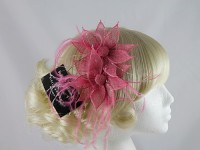 Nigel Rayment Pink Twin Flower Fascinator