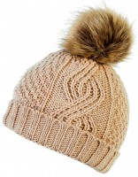 Boardman Darby Ladies Cable Knit Beanie Bobble Hat