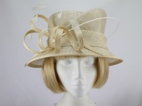 Pale Cream and White Formal Hat
