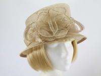 Pale Toffee Wedding Hat
