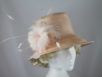 Peter Bettley Pale Pink Wedding Hat