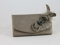 Elegance Collection Loops and Feathers Bag